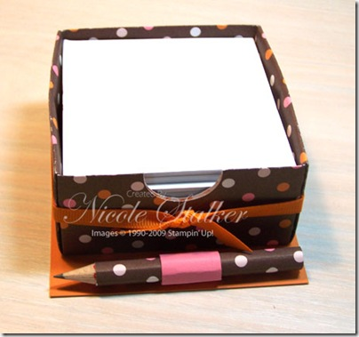 Sweet Always Paper Block Holder