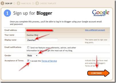 make blogger blog1