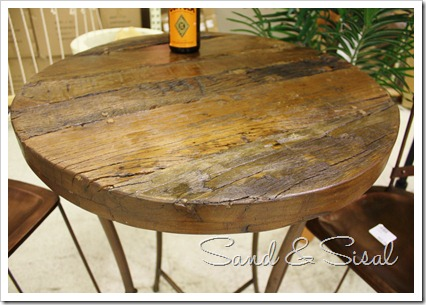 salvaged wood table