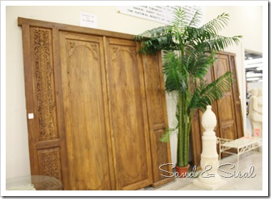 salvaged teak doors