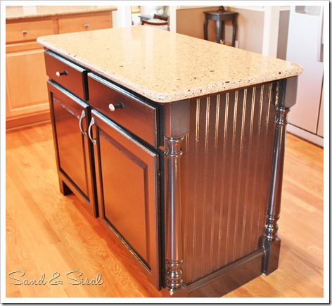 Kitchen Island Makeover Sand And Sisal