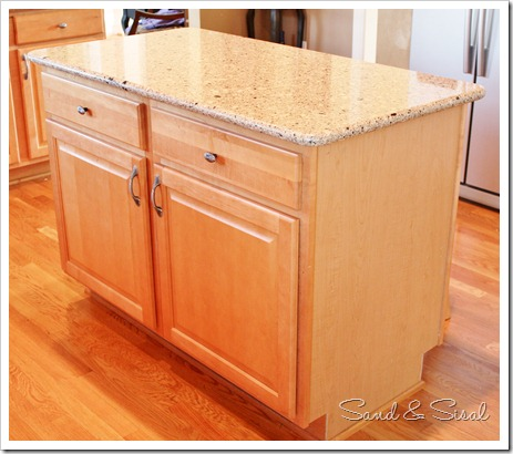 New Kitchen Island Before