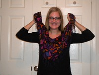 put scarf around neck