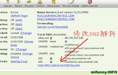 DNS 解析成功后的域名状态