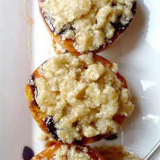 Grilled Peaches with Honey-Almond Streusel