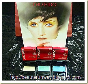 Shiseido spring luminizing eye colours bone sky fondant