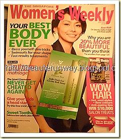Ginvera Green Tea Jade Dark Eye Circles Roll Away Free with Singaore Women's Weekly at Kinokuniya
