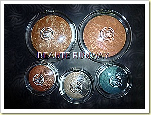 The Body Shop Baked to last eyeshadows and bronzers