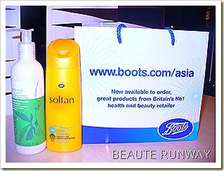 Boots Soltan and Botanics body