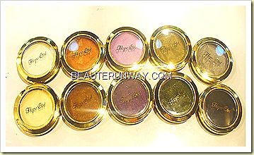Hope Girl Eye shadows collection gold