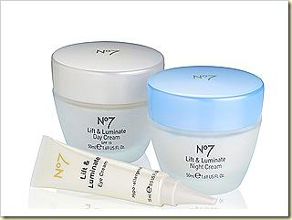 Boots No 7 Lift & Luminate Anti-aging skincare