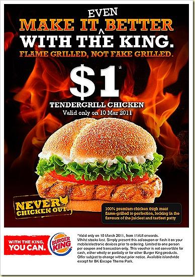Burger King $1 Tendergrill Chicken Burger