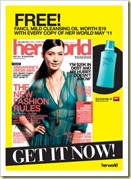 Fancl Mild Cleansing Oil Her World Singapore MPH Promotion