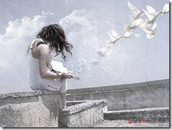 Lectura de poemas y suelta de palomas