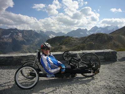 Handbike au col du Galibier