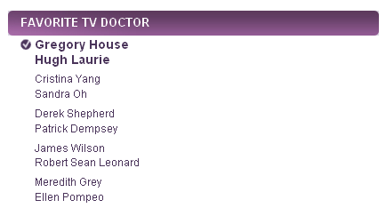 People's Choice Awards 2011 Nominees - Tv doctor