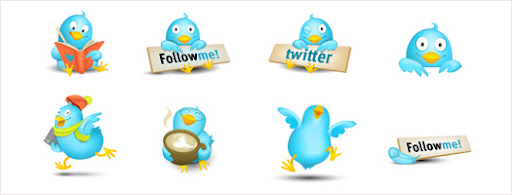 Cute Twitter Bird Vector Art