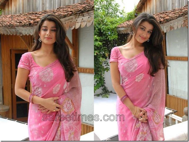 Madhurima-Pink-Embroidery-Sari