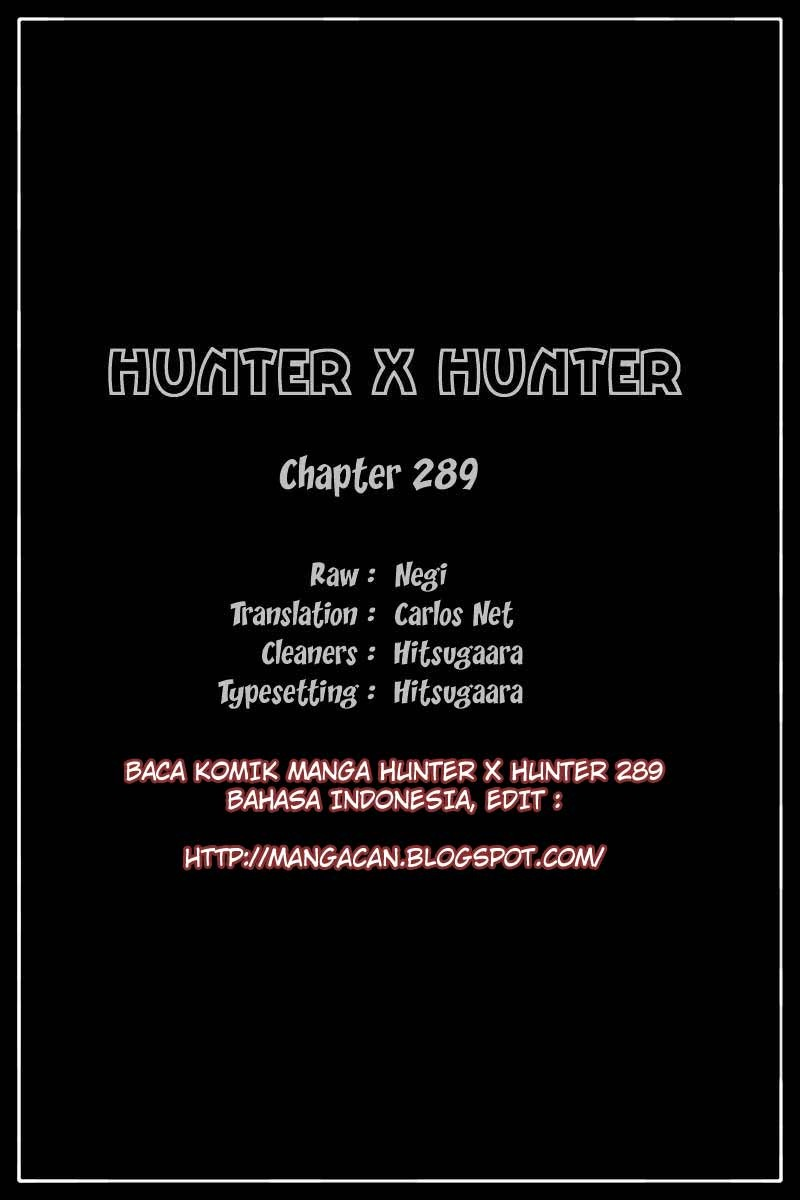Hunter x Hunter 289 Bahasa Indonesia