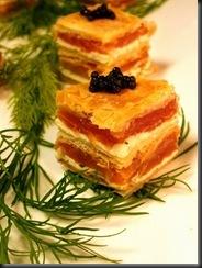 smoked salmon napolean