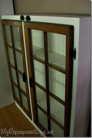 repurposed window cabinet 7