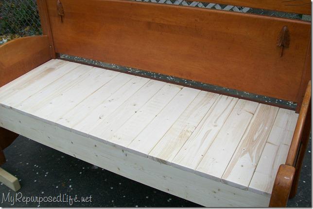 full sized headboard bench tutorial