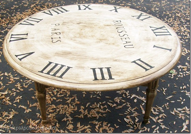 Repurposed table ideas my repurposed life Coffee table with clock
