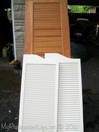 repurposed louvered door