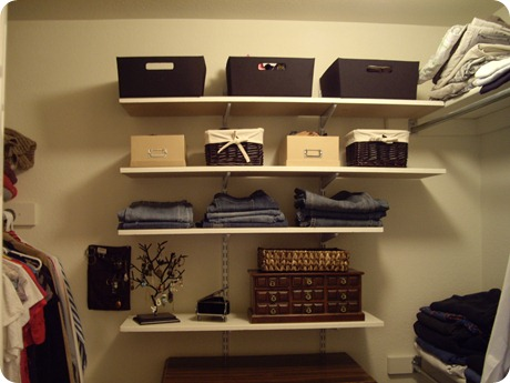 Newly expanded closet!