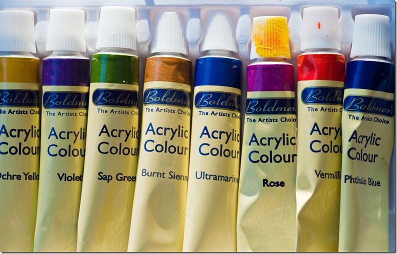 tubes of boldmer acrylic paint