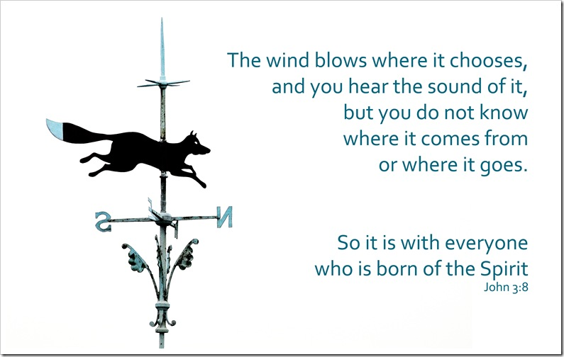 the wind blows where it chooses