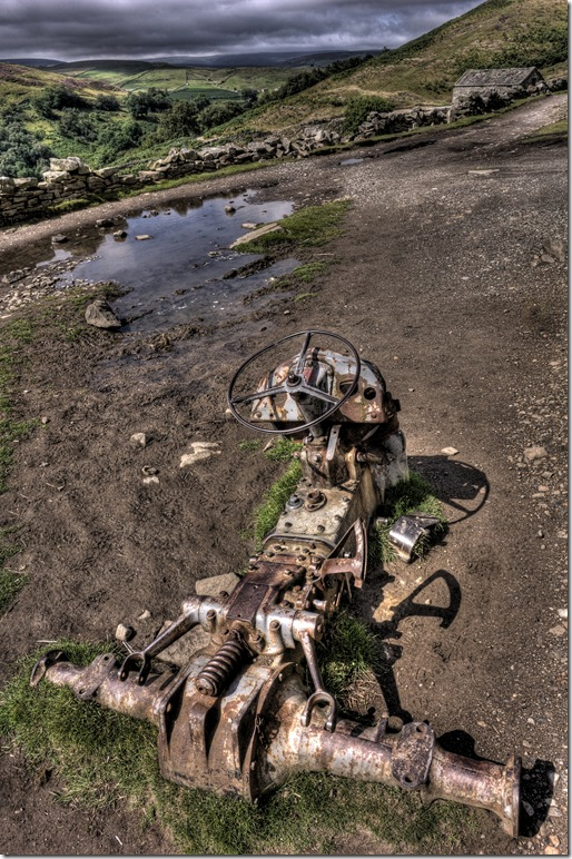 remains of old tractor