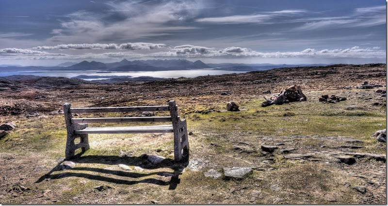 bench facing isle of skye