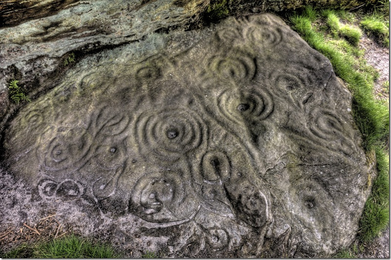 northumbrian rock art rockshelter floor at ketley crag