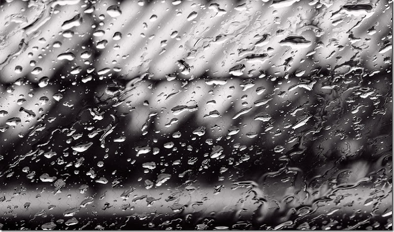 rain on windscreen