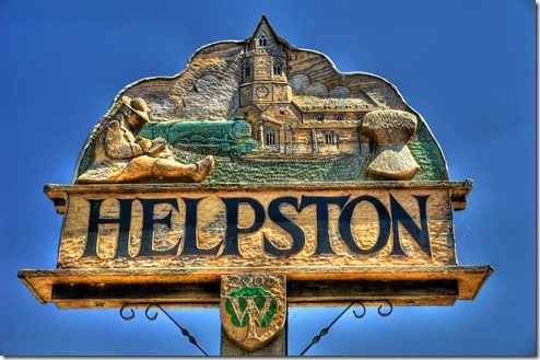 helpston village sign showing john clare