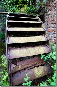 derelict waterwheel at disused watermill