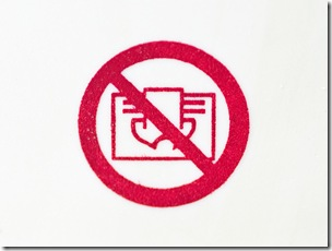 do not cover icon