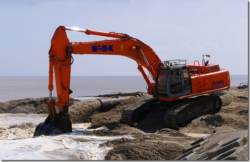 replenishing beach using dredged sand