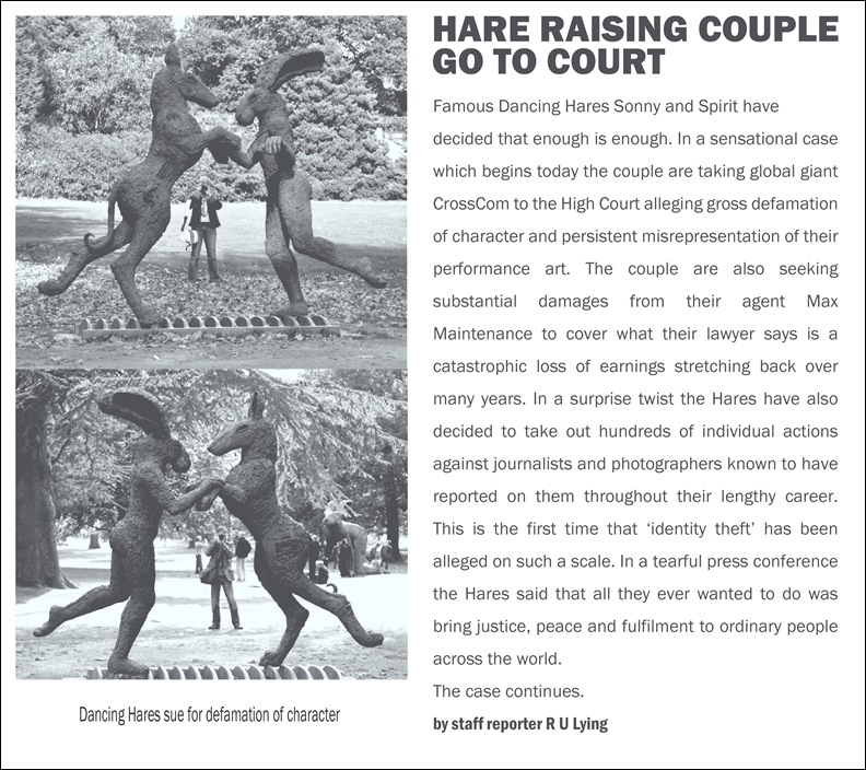 hare raising copy
