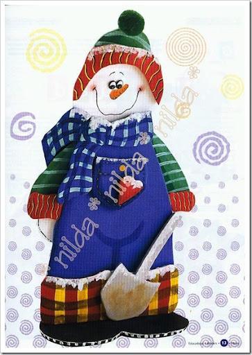 Manualidades Navidad foami para niños Muñeco de Nieve