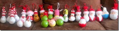 Manualidades navidad bombillas con pap noel para decoraci n - Bombillas decoradas ...