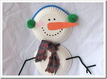 Manualidades navidad hechas con platos de cart n - Manualidades de navidad para ninos de preescolar ...