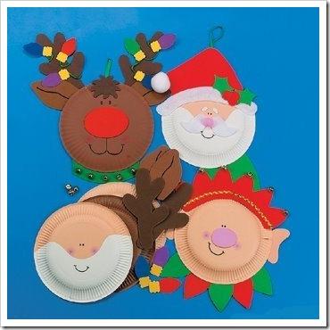 manualidades navidad con platos (2)