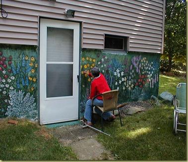 Marg.redoing wall 8-9-05