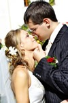 Wedding Hairstyle Bride & Groom Kiss Graphic