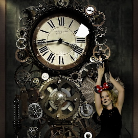 Hickory Dickory Doc by Beth Schneckenburger - People Fashion ( fantasy, mouse, clock, gears, steampunk )
