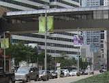"Banners in Houston cannot include ""advertising""  so are artistic as seen here."
