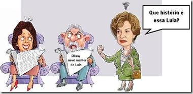 Charge Dilma lula e marisa