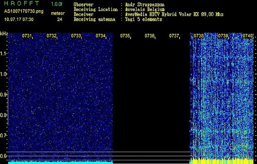 Detection des météores AS1007170730